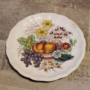 Vintage Scalloped Fruit Salad or Dessert Plate